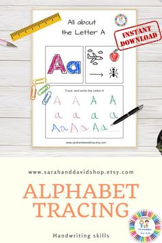 This alphabet tracing booklet of printable worksheets for preschoolers helps you with early handwriting and phonic skills. The preschool workbook contains a printable worksheet for each letter of the alphabet that enables you to recognize all capital and small letters from A to Z. Tracing letters is the first step a preschooler can take on his way of learning to write. If you want this booklet to last forever, you can laminate it and use a dry erase marker.