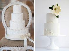 20 White on White Wedding Cakes | SouthBound Bride