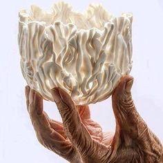 Wood Sculpting Methods And Tips Pottery Bowls, Ceramic Bowls, Ceramic Pottery, Pottery Art, Ceramic Art, Pottery Ideas, Jo Wood, Sculpture Techniques, Coil Pots