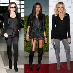 Over the knee boots.  Mine are taupe suede....