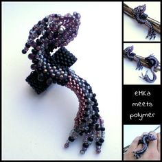19/9 Dragon... TOHO beads September 2013, Dragons, Bracelet Watch, Brooch, Crafty, Beads, Bracelets, Rings, Accessories