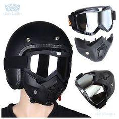 9d7ff0e3ba Clear Lens Motorcycle Detachable Modular Helmet Face Mask Filter Shield |  eBay. Lentes EspejoEscudoGafasBicicletasCasco ...