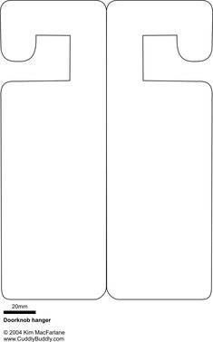 Doorknob hanger template - Something to occupy the kids on boring, rainy summer days.