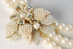 Bridal Pearl Necklace  Triple Strand by AMagnificentMess on Etsy, $210.00