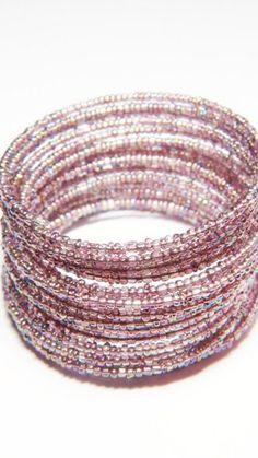 purple memory wire bracelet | 41StarsStudio - Jewelry on ArtFire