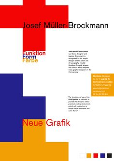 Funktion.Form.Farbe – a tribute to Josef Muller-Brockmann #swissdesign #graphicdesign