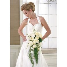 White Rose and Ranunculus Cascading Bridal Bouquet $345.00 www.1800flowers4giftseattle.com