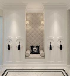 Master Closet Seating Cabinets 35 Ideas For 2019 Classic Interior, Home Interior Design, Interior Decorating, Luxury Interior, Door Design, House Design, Living Room Decor, Bedroom Decor, Modern Bedroom