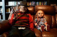 Freddy + chucky my two favs