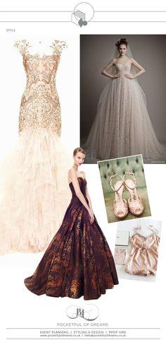 Bridal Inspiration Boards #78 ~ Golden Age of Glamour Wedding Ideas | Love My Dress® UK Wedding Blog