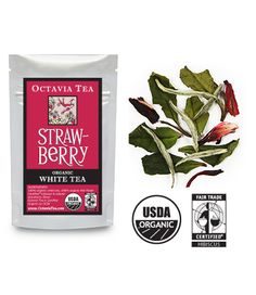 Strawberry White tea by Octavia Teas!  It's in the mail!