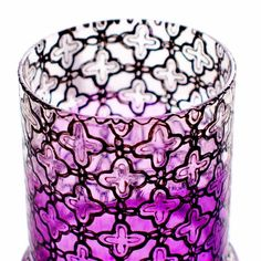 Moroccan Votive Holder with Fuschia Pink Glass and by LITdecor, $22.00