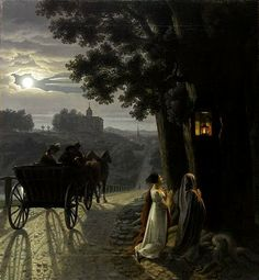 Nocturnal Imploration to altar of the Virgin ~ Jean-François Dunant ~ (French, 1780 - Nocturne, Moonlight Painting, Music Of The Night, Paris Images, Regency Era, Great Paintings, Grand Palais, Classical Art, Art Graphique
