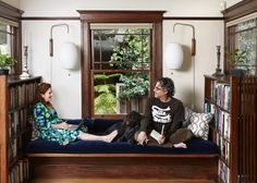 Ayelet Waldman and Michael Chabon lounge on the window seat in their Berkeley home Photo: Aya Brackett / Remodelista Home, Cozy House, Interior Spaces, Living Spaces, House Inspiration, Reading Nook, Remodelista, Interior Design, Window Seat