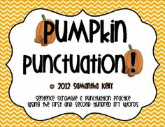 Sentence Fluency and Punctuation Practice for this fall! FREE!