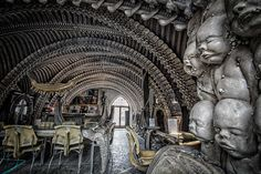 H.R.Giger Museum-Bar in Chateau St.Germain, Gruyères, Switzerland
