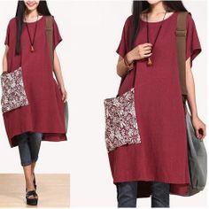 Navy blue wine red women summer dress linen dress maxi by SayGood, $109.00