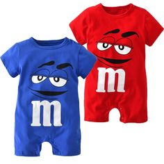 Humorous Spring Summer Boys Girls Red Cotton Romper Short Sleeve Infant Jumpsuit Cartoon Printed Girl Childrens Overalls Baby Clothes To Adopt Advanced Technology Rompers