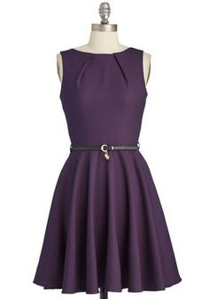 Luck Be a Lady Dress in Violet, #ModCloth could  be a great audition dress $75