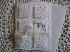 Stampin Up Handmade Greeting Card: Wedding Happy I Do Day
