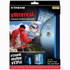 XTREME iPad Survival for iPad 2 & 3 Case - NAVY & BLUE PROTECTIVE SHELL + Stand #XTREME 18