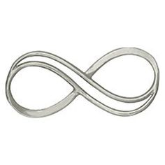 New Small Double Infinity Sterling Silver Charm by catsjewel, $6.25