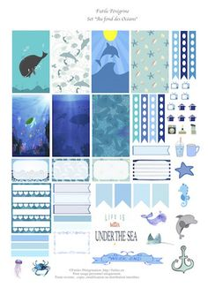 FREE Sous les Oceans Planner Printable by Happy Planner Kit, To Do Planner, Free Planner, Planner Pages, Planner Diy, Filofax Pocket, Project Life, Printable Planner Stickers, Free Printables