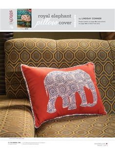 Pattern: Royal Elephant Pillow Cover - Media - Sew Daily