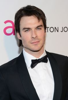 Ian Somerhalder Photos - Actor Ian Somerhalder attends the Annual Elton John AIDS Foundation Academy Awards Viewing Party at Pacific Design Center on February 2013 in West Hollywood, California. Damon Salvatore, Serie Vampire Diaries, Vampire Diaries The Originals, Katherine Pierce, Beautiful Boys, Gorgeous Men, Beautiful People, Vampire Boy, Ian Somerhalder Vampire Diaries