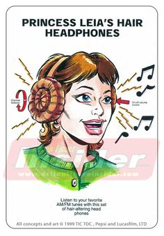 More rejected #starwars concepts. Princess Leia hair headphones.