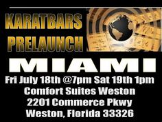 We are opening Miami this weekend!!!   Register for free at www.24ktGoldPlanet.COm