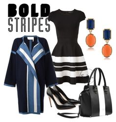 """""""Bold Stripes"""" by marhay-ini on Polyvore featuring Karen Millen, Chloé, Alexander McQueen and 1st & Gorgeous by Carolee"""