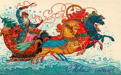 советские открытки, Палех