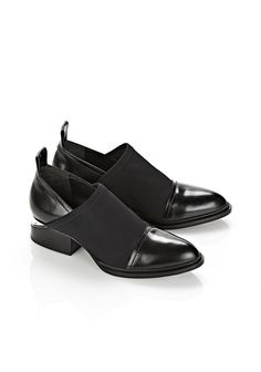 NEOPRENE KORI OXFORD WITH RHODIUM - Women Flats - Alexander Wang Official Site