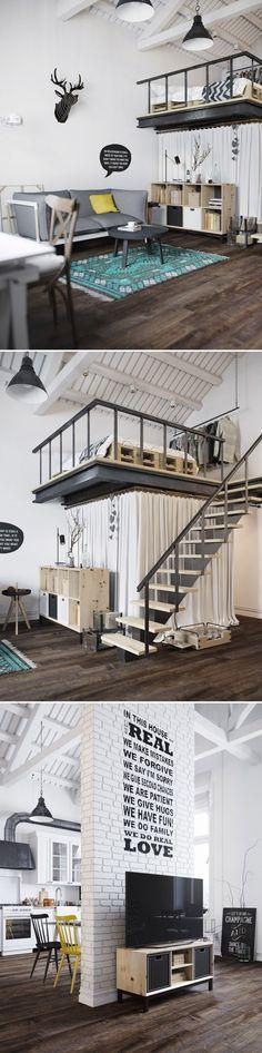 Scandinavian Loft - Галерея 3ddd.ru  #interiordesign #loft #RusticLoft #BeamCeilings #Moderndesign #Cosagach #SensualDesign #soulfulhome #fromwhereIstand #Windows #spacious #openHome