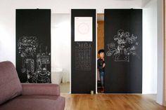 黒板インテリア VOLO の ラスティックな 壁&床 吉祥寺のS邸
