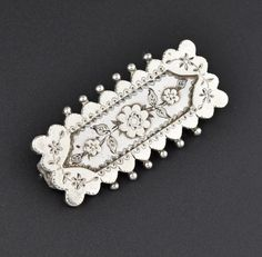 ON HOLD Vintage Forget Me Not Silver Victorian Brooch  #Vintage #intage #Silver #Brooch #Victorian #Forget #Sterling #Fantastic #Seed #Nouveau