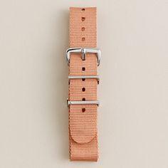solid watch strap (15.00) in blush stone, j.crew