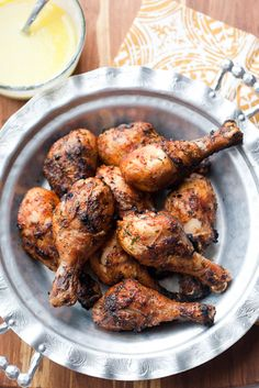 Grilled Moroccan Chicken and Garlic Sauce