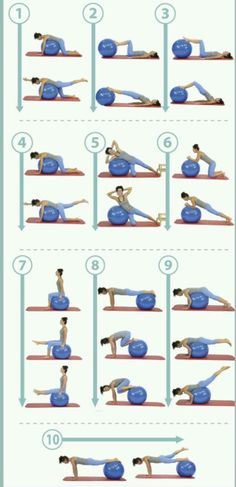 Aprende 10 útiles ejercicios para entrenar tu core con fitball & Fisioterapia Online Learn 10 useful exercises to train your core with fitball & Online Physiotherapy The post Learn 10 useful exercises to train your core with fitball Fitness Workouts, Yoga Fitness, At Home Workouts, Fitness Motivation, Ball Workouts, Fitness Ball Exercises, Workout Ball, Fitness Shirts, Fitness Outfits