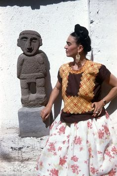 Frida Kahlo first met Diego Rivera when she was an art student hoping to get advice on her career from the famous Mexican muralist.
