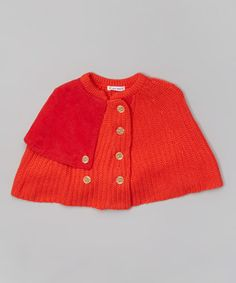 Look what I found on #zulily! Orange Poncho - Toddler & Girls by Dino Bebe #zulilyfinds