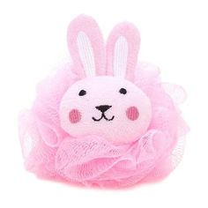 Forever21 Bunny Bath Sponge ($3.90) via Polyvore featuring pink