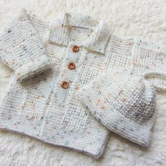 Hand Knitted Baby Set by jayceeoriginals on Etsy, $25.00