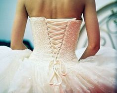 Back of a wedding dress