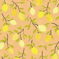 Lemon pattern - food illustration by Laurence Lavallée aka Flo