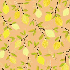 Lemon pattern - food illustration by Laurence Lavallée aka Flo Food Illustrations, Pattern Art, My Arts, Artist, Lemon, Wallpapers, Home Decor, Decoration Home, Room Decor