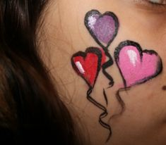 Valentine's Day  face painting idea for kids and teens from Magic Brush