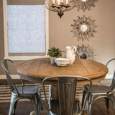 these chairs would even be cute around the old oak table