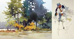 Bill Vrscak - Watercolor artist, illustrator, and instructor in Pittsburgh, Pennsylvania
